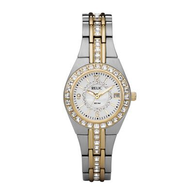 Relic® Womens Two-Tone Watch ZR11775 - JCPenney