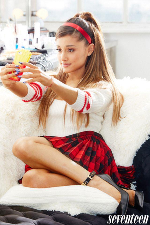 Upskirt Ariana Grande 2014   Ariana Grande Has the Strongest Selfie Game in Hollywood   Hollyscoop