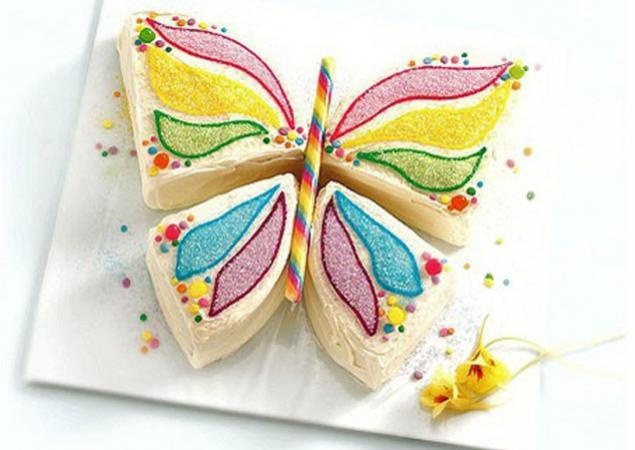 Kid S Butterfly Cake Very Pretty And Easy To Make