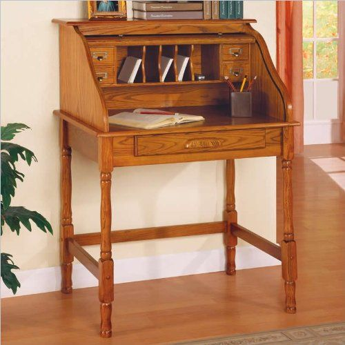 Coaster Roll Top Bedroom Home Office Secretary Desk, Oak Finish http://www.furnituressale.com/coaster-roll-top-bedroom-home-office-secretary-desk-oak-finish-2/