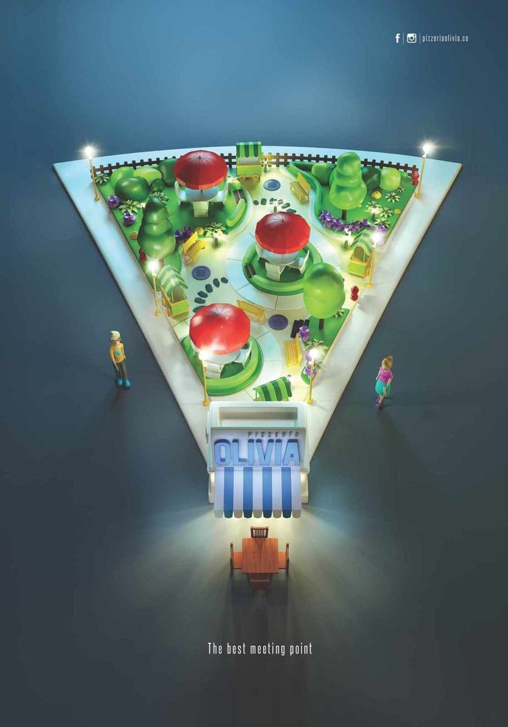 """The best meeting point"" | Agence : Creamos, Medellín, Colombie, pour la pizzeria Olivia (juillet 2015)"