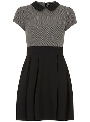 Grey/black collar dress