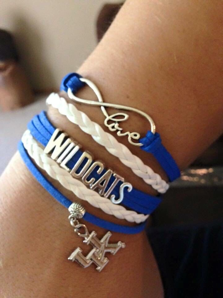University of Kentucky infinity bracelets https://www.etsy.com/listing/251608211/university-of-kentucky-wildcats-infinity