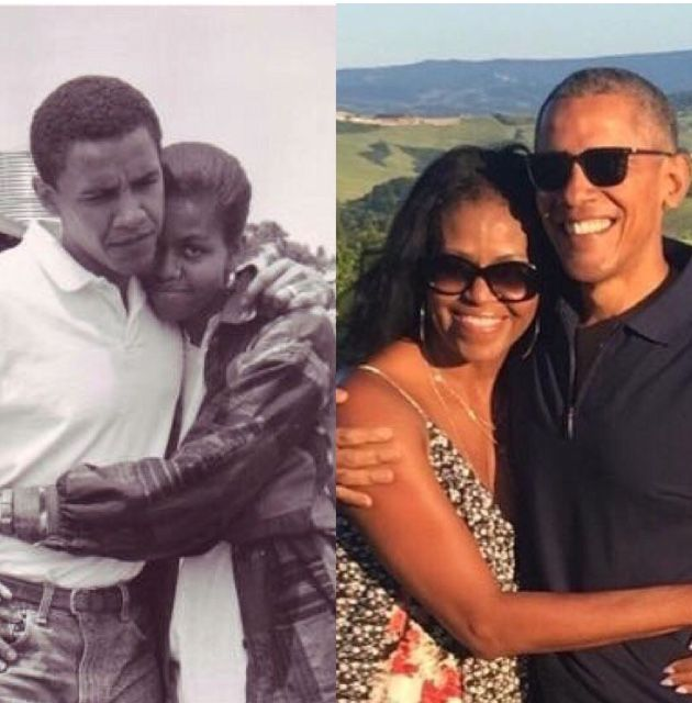 TheObamas: Then (1992) and now (2018)