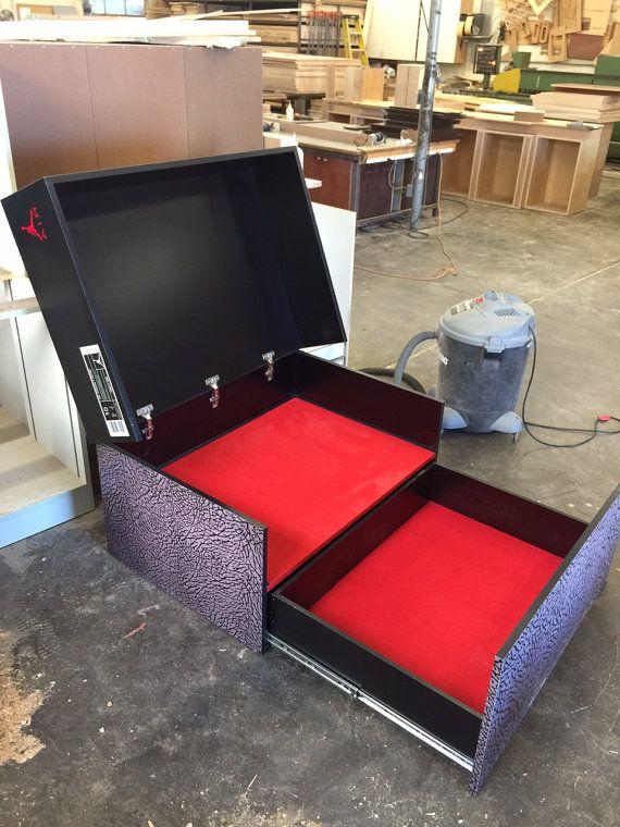 Custom Giant Jordan Flight Shoe Storage Box with by SoleShoeBoxes