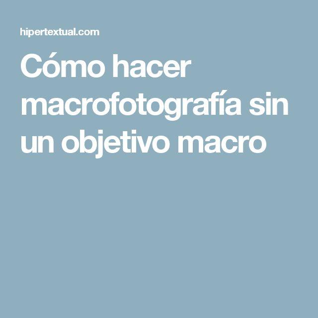 Cómo hacer macrofotografía sin un objetivo macro