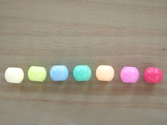 10mm große Loch Kunststoff-Perlen / Pastell-Perlen / großes