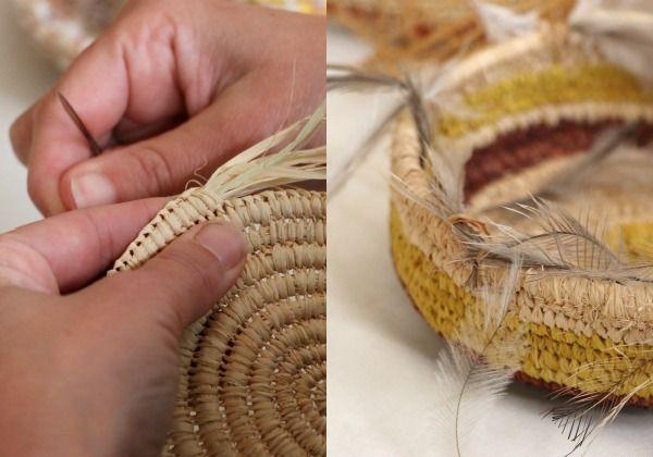 coil basket weaving