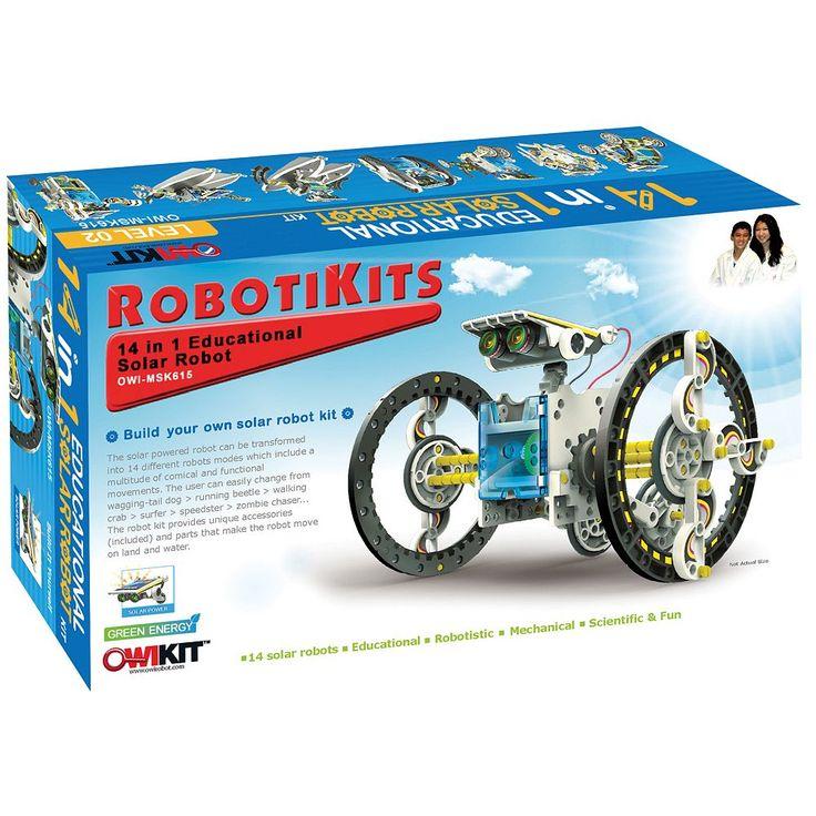14-in-1 Educational Solar Robot Kit, Multicolor