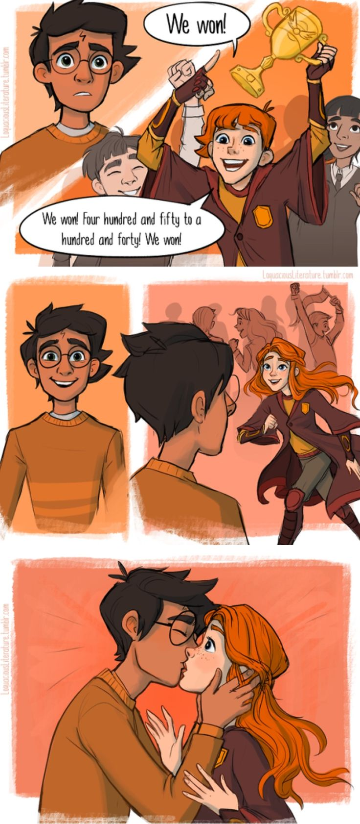 Harry and Ginny kiss part 1