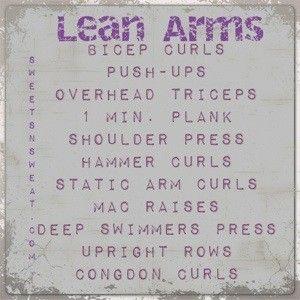Lean arm workout!