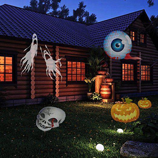 ACRATO Outdoor LED Projektor Lampe Gartenleuchte Außen Lampe Weihnachtsbeleuchtung für Garten Festival-Dekoration und Innen Lampe mit austauschbaren Linsen für Weinachten Halloween Geburtstag Hochzeit Party