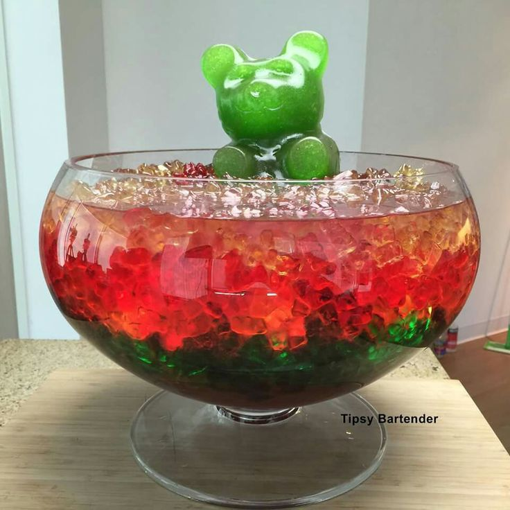 ultimate gummy bear punch bowl - Halloween Party Punch Alcohol
