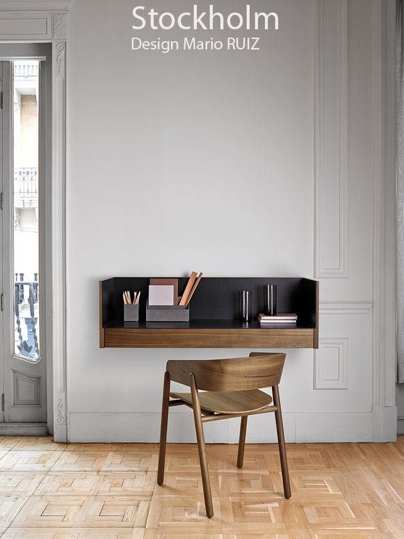 console murale stockholm stk 503 plaqu noyer naturel. Black Bedroom Furniture Sets. Home Design Ideas