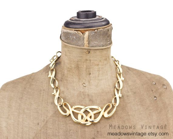 Erwin Pearl Gold Necklace P.E.P. Gold Necklace by MeadowsVintage