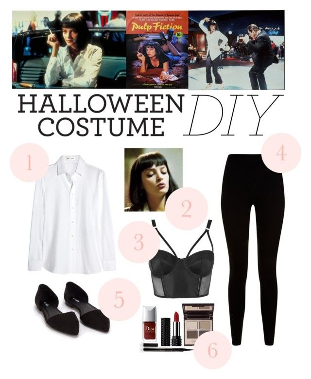 """D.I.Y Halloween Costume: Mia Wallace"" by i-dont-do-mornings ❤ liked on Polyvore featuring Wallace, Topshop, Yves Saint Laurent, Givenchy, Nly Shoes, Kat Von D, Elizabeth Arden and Charlotte Tilbury"