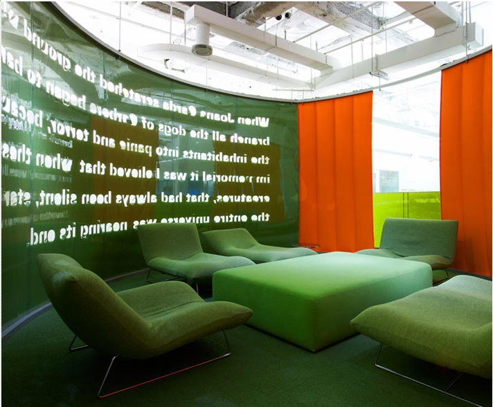 Meeting room - talk on the wall