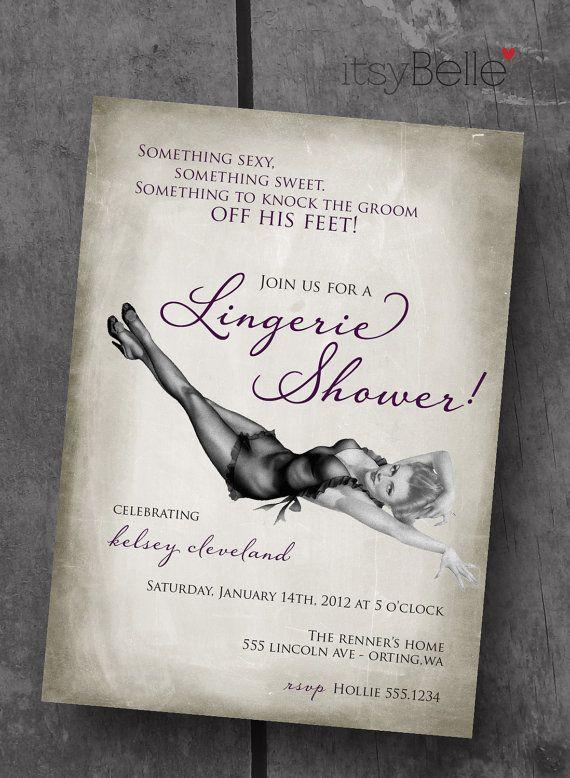 Lingerie Bridal Shower  Vintage Dame Collection  by ItsyBelle, $10.00