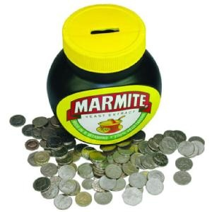 Giant Marmite Jar Money Box