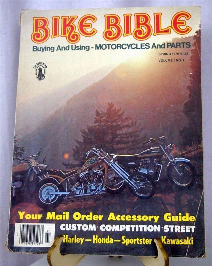 vtg Spring 1976 BIKE BIBLE HD Harley Chopper Honda Motorcycle Parts Magazine #HarleyDavidson #VintageChopper #Motorcycle