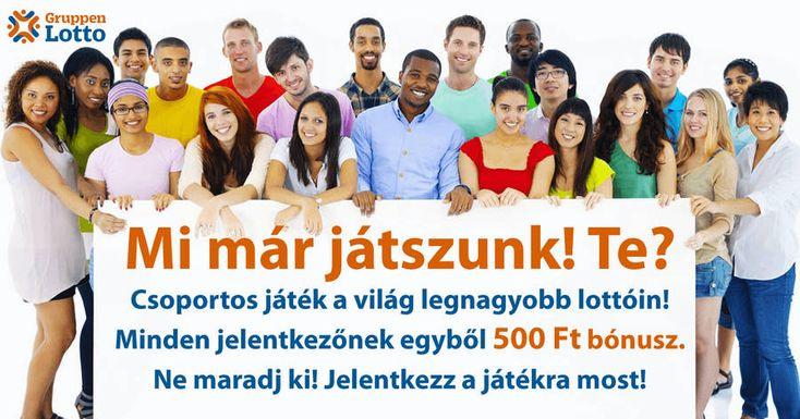 KICSIT JOBB AZ INGYENESNÉL ! FIZETNEK A REGISZTRÁCIÓÉRT !  Csatlakozz Európa legnagyobb közösségi lottó játékához és azonnal 500 Ft ajándékot kapsz! https://gruppenlotto.com/hu/?xref=35ec476f4f0a2f48202c1314