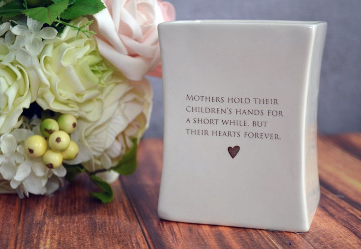 Unique Mother's Day Gift - Square Vase - Gift Boxed and Ready to Give. Via Etsy. This earthenware clay vase would be a great Mother's day gift and one that she could enjoy all year around. The inside rim of the vase says 'Happy Mother's Day 2013.' #MotherDayGift #GiftforMom #HandmadeCeramics #SquareVase
