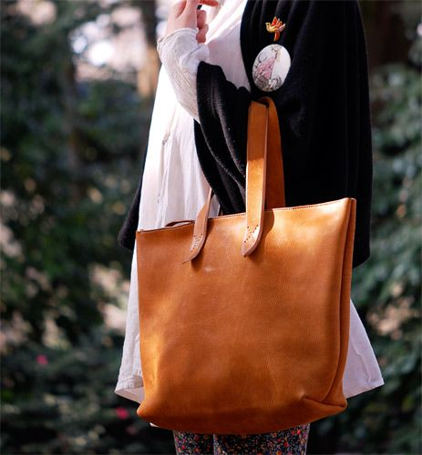 Ground Leather Tote