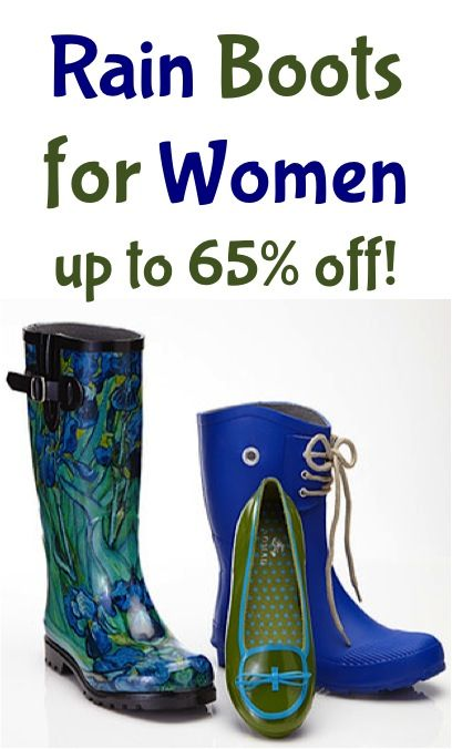 Rain Boots for Women ~ up to 65% off!! #fall #boots #fashion