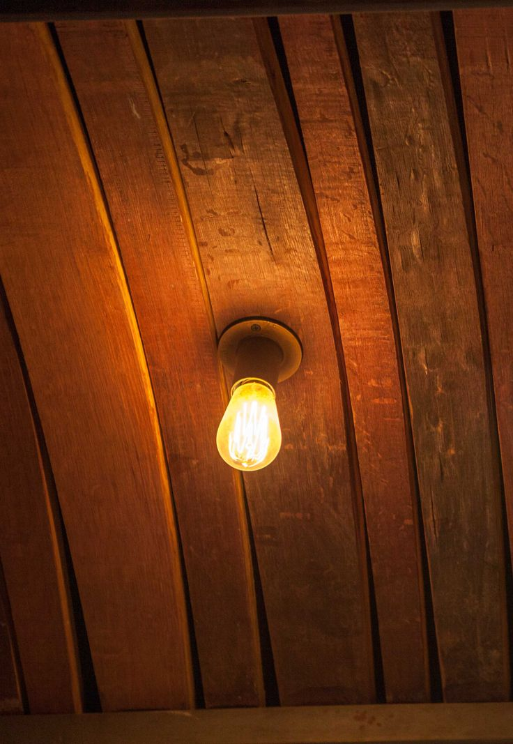 Brass fitting with Edison Squirrel bulb
