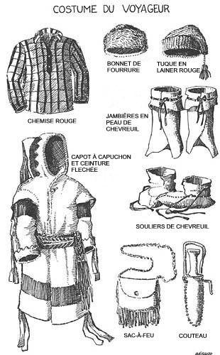 Costume of a voyageur or coureur des bois - my great-great-great-great-great-great-great-great-great-grandfather Francois Pelletier dit Antaya was a coureur des bois