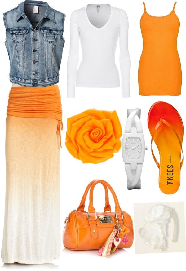 25  best ideas about Orange maxi skirts on Pinterest | Orange ...