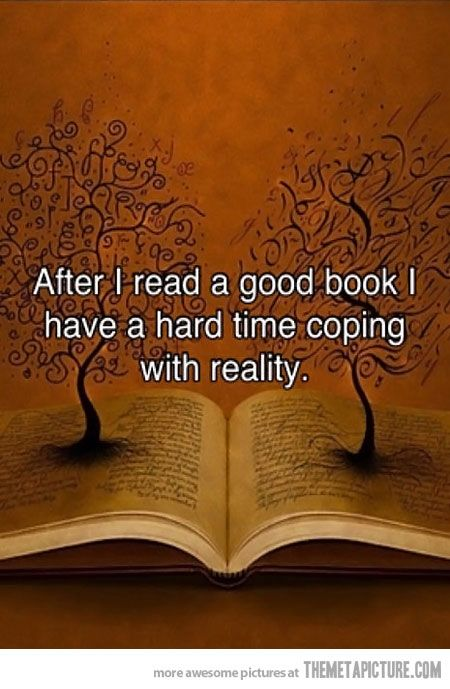 After I read a good book…