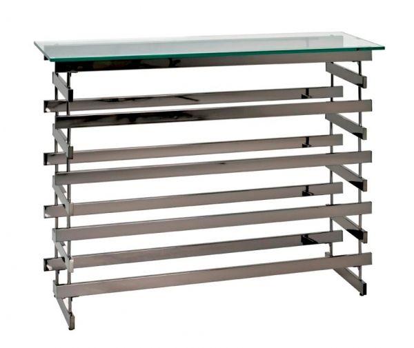 Highboard 13870. Hochwertiges Highboard in schwarzer Metalloptik. #moebel #möbel #moebeltraume #moebelpower #Kommde #Bücherregal #haken #beton #stein #stilvollwohnen #Flur #Regal