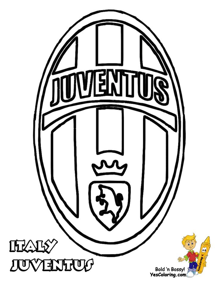 JUVENTUS logo Soccer Colouring pages | Free Coloring Pages