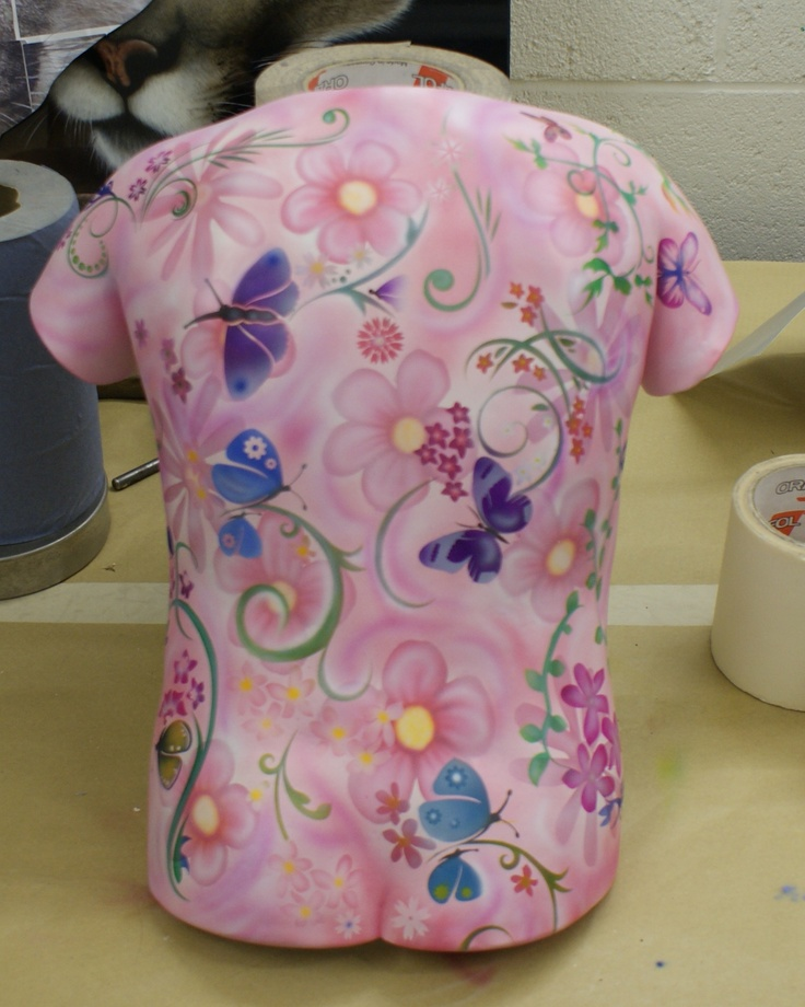 A bodycast by York Bodycasting , painted by me.
