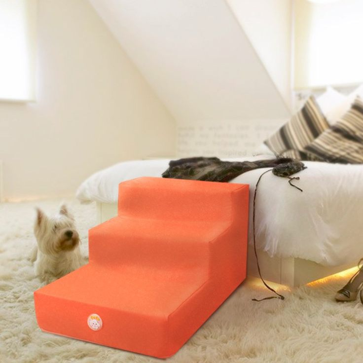 New three layers Pu leather pet bed Stairs pet mat for small dog anti-slip foldable pet steps with removeable cover pet product – Shop Awesome Deals For Your Pet