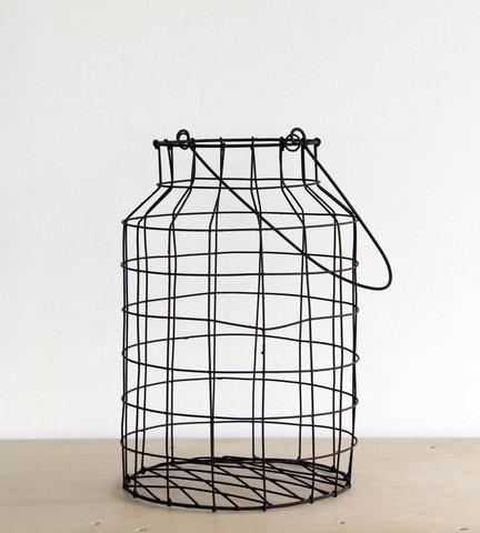 Nkuku Metal Egg Basket | Rust