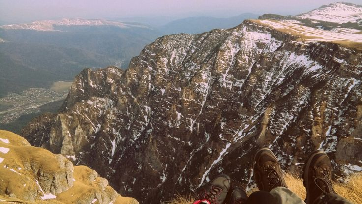 Rocks. Breathtaking. Couple to do list. On top of the mountains together. Bucegi mountains. Caraiman. 2384 m altitude.