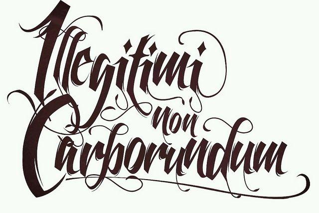 Illegitimi non Carborundum - Don't Let The Bastards Grind You Down by Margaret Atwood.