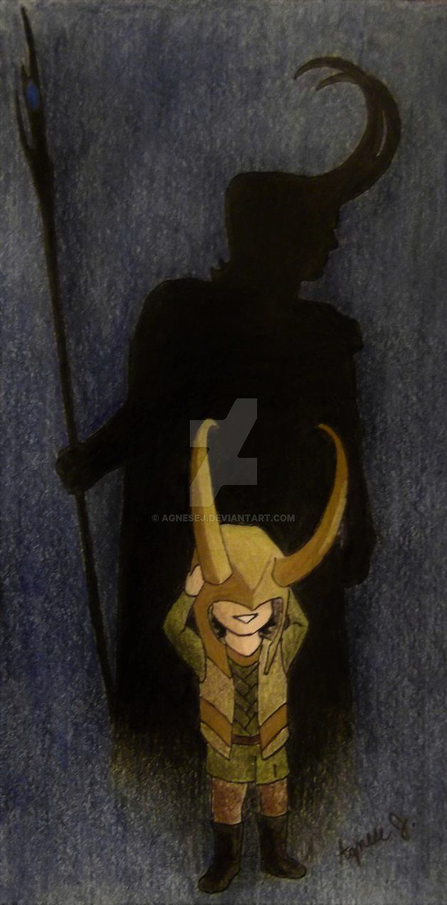 Foreshadow by AgneseJ on deviantart. Young Loki and his future
