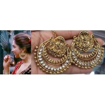 @ $49 Deepika Padukone Ramleela Earrings with FREE shipping offer.