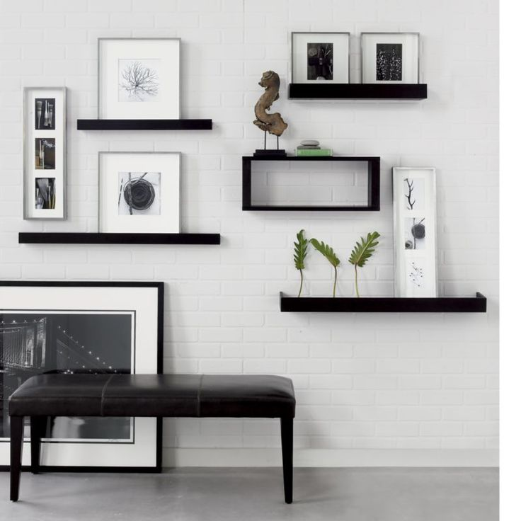5 Beautiful Accent Wall Ideas To Spruce Up Your Home: Archetype Espresso 2' Photo Ledge In Frames, Ledges