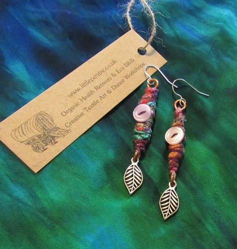 Leaf Earrings Tribal Indian Jewellery Gypsy Copper Dangle Ear