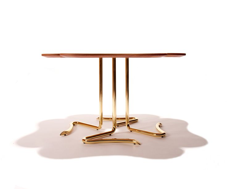 Four… for Luck center table by Joana Santos Barbosa for INSIDHERLAND  #table #rosewood #clover #fourleafclover #luck #furniturecollection #furnitureinspiration #entrance #home #table #interiorideas #brass #brasstable #natureinspiration #nature #furniture #detail #design #uniquedesign #interiordecor #interiors #designtrends #organicdesign #uniquedesign #insidherland #jsb