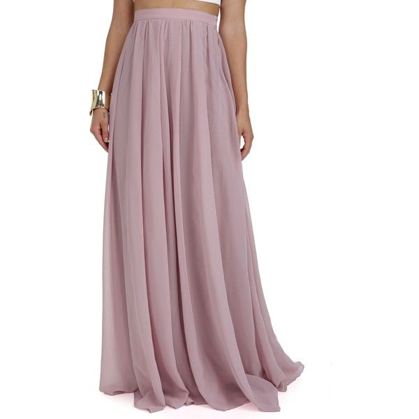 Maxi skirt chiffon pleated dress
