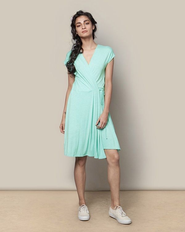 NICOBAR Wrap Dress - Aqua