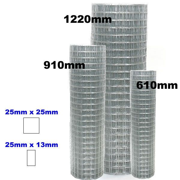 Wire Mesh Fence, Welded, 15m, 30m, 25x13, 25x25, 600,