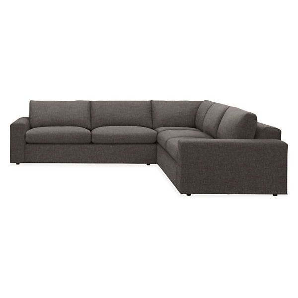 "Room & Board - Harding 117x117"" Three-Piece Sectional"