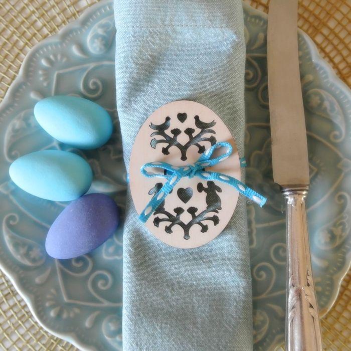 Bunny Love Napkin Holder with ribbon