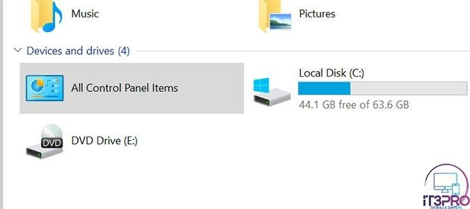 How To Add Control Panel To File Explorer Windows 10 Tutorials Windows 10 Music Pictures